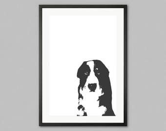 Bernin' Love - Bernese Mountain Dog print