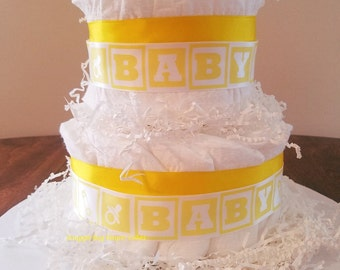 New Baby Two Tier Diaper Cake