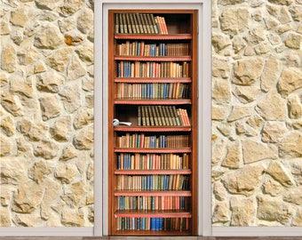 "Bookcase Door Poster/Sticker (31"" x 79"" | 80 x 200 cm)"