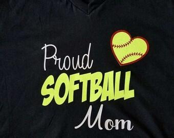 Softball Mom t-shirt/Mom shirt/softball shirt