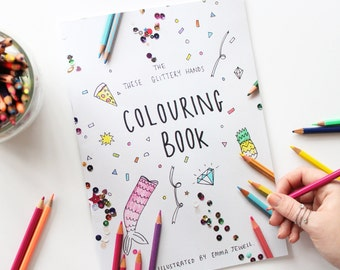 These Glittery Hands Colouring Book