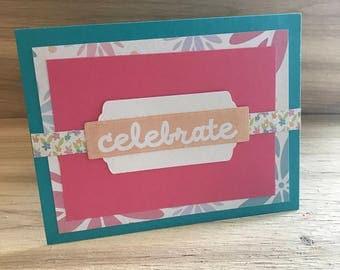Celebrate in Floral card