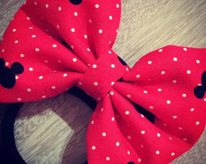 Mickey Mouse fabric hair bow or bow tie