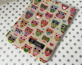 Buddle, small, padded book cover/sleeve (owls)