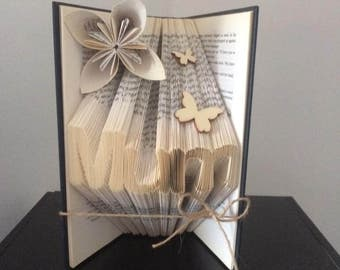 Mum folded book art. the perfect moters day gift
