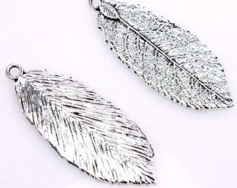 Metal Leaf Charm Lot of 10