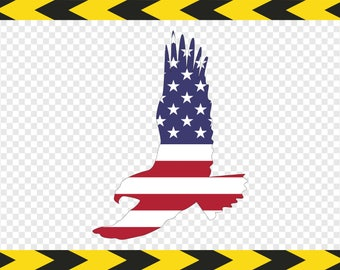 Eagle flag Svg Decal USA American flag Cut files for Cricut Silhouette Dxf Pdf Png
