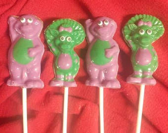 Barney and Baby Bop Chocolate Pops