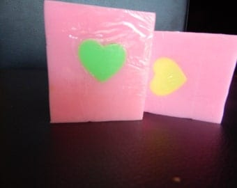 Love spell hearts melt and pour soap 80g
