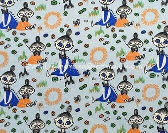 om002 - 1 Yard Cotton Polyester Thick Canvas Fabric - Cartoon Characters, Moomin Little My (W140)