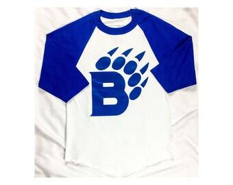 BearaKuda Blue Baseball Tee
