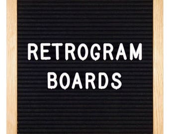 Black Felt - Oak Frame Retro Letter Board 10 x 10 inch with 290 White interchangeable letters and FREE letter bag