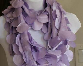 Fun Spring Easter Lilac Circle Infinity Scarf, Gifts for Women