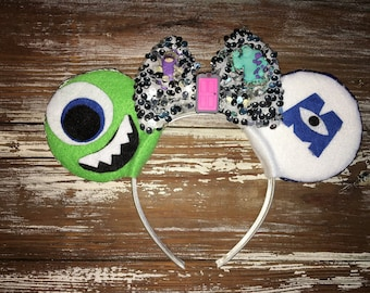 Monsters Inc Ears, Mike Ears, Sully Ears, Boo Ears, Monsters University Inspired Ears, MU, Mickey Inspired Ears, Disney Inspired Ears