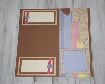Blue Spring Scrapbook Page