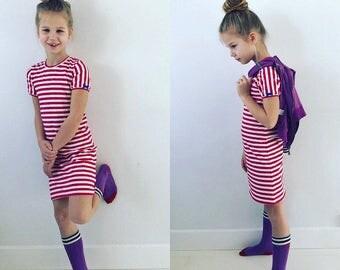 Dress stripes red