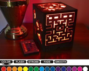 Retro game, Retro game color nightlight, color lantern, color led nightlight, color led lantern, wood nightlight, wood lantern, RG-1