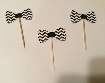 Bow tie cup cake toppers