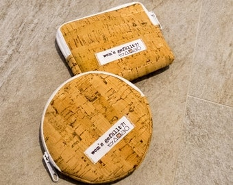 Purse, coin bag, Cork, rectangle
