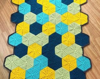 Abstract geometric modern baby blanket