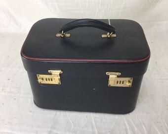 Harrods 1950's full leather vanity case