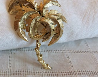 Goldtone Palmtree Brooch
