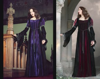 Velvet Medieval Style Dress - Size XS & S