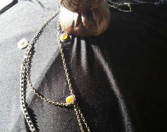 Chain and charm lanyard /badge/ name tag