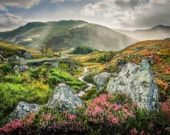 Highland mist , Scotland photography, Scotland art print, Scotland