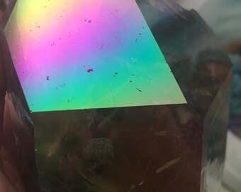 Gorgeous Rainbow Smokey Quartz Tower