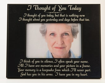 Memorial Picture Frame, Picture Frame, Engraved Frame, 4X6 picture Frame