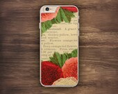 Vintage Flower Pattern iPhone Book Page iPhone 6 Case iPhone 6S Case iPhone 5S Case iPhone 5 Case iPhone 5C Case iPhone 7 Case iPhone 4 Case