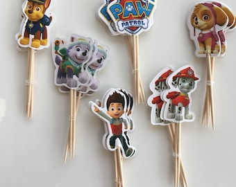 24 pieces Paw Patrol Cake/Cupcake toppers New with Ryder