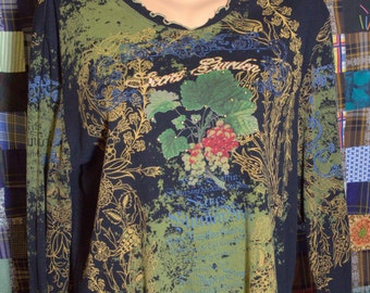 Vintage Women's Floral Secret Garden Top By Jess and Jane