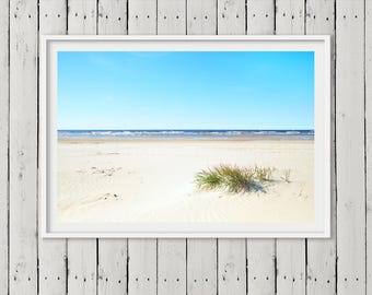 Costal Ocean Wall Art Print, Beach Photography, Coastal Decor, Modern Photography, Printable Large Poster, Digital Download.