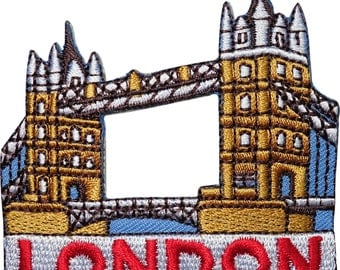 Tower Bridge London Embroidered Iron / Sew On Patch Clothes Bag Badge Transfer