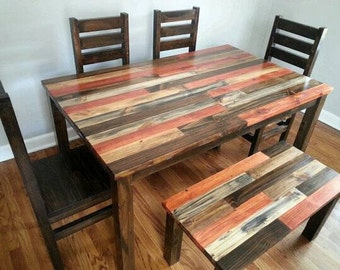 Rustic Distressed Kitchen Set Dining Room Set