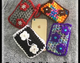 Crochet medium wallets for  cell phones