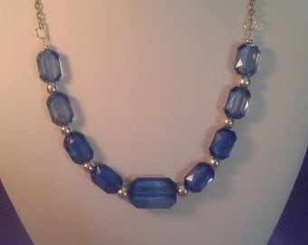 Simply pretty blue necklace women
