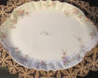 Theo Haviland Limoges Antique Large Serving Platter - France Circa 1890-1920!