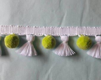 Multi coloured Tassel fringe with pompom