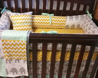 5 piece Crib bedding