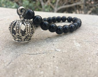 Wrist of the King Onyx Bead Bracelet
