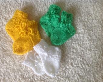 First socks, baby socks,