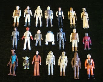 Vintage 1970s Star Wars Figures Set of 21 Figures