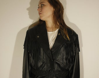 Vintage 80's 100% Leather Jacket