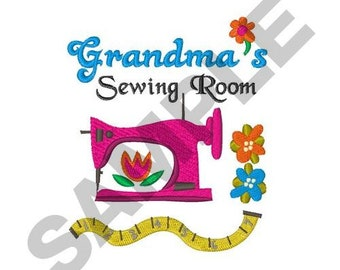 Grandmas Sewing Room - Machine Embroidery Design