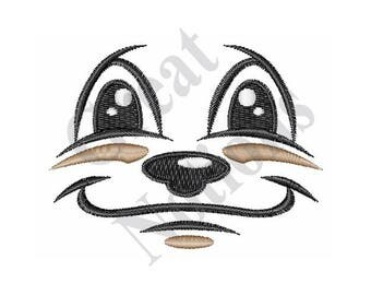 Doll Dog Face - Machine Embroidery Design