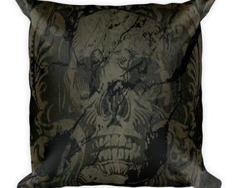 Death Is Coming Square Pillow
