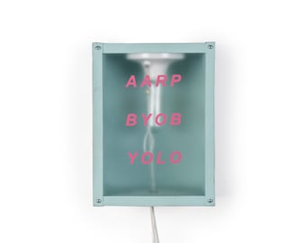 AARP/BYOB/YOLO 9x12 Wall Sconce